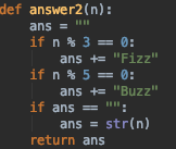 fizzbuzz answer